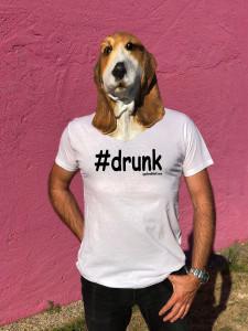T-SHIRT #DRUNK (HOMME)
