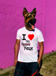 T-SHIRT I LOVE TES YEUX (HOMME)