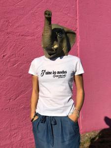 T-SHIRT J'AIME LES MOCHES (FEMME)